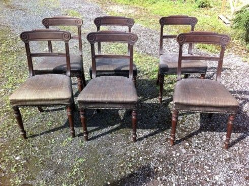 a set of 6 19th century mahogany dining chairs