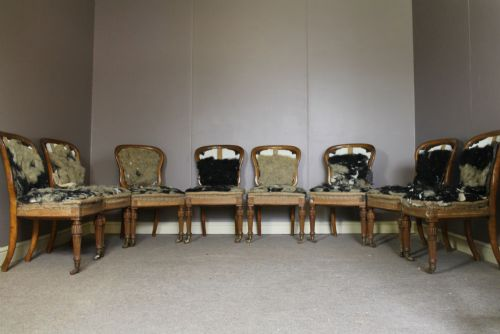 set of 8 holland and sons oak dining chairs