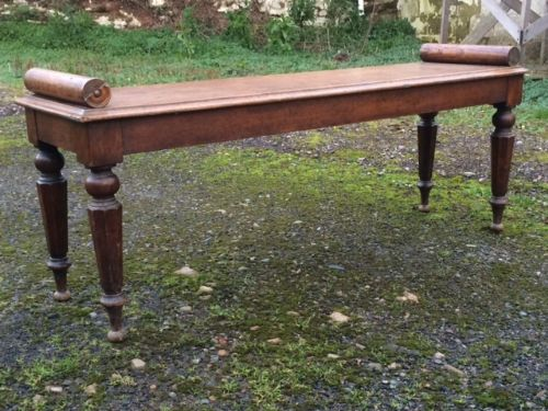a 19th century oak hall bench