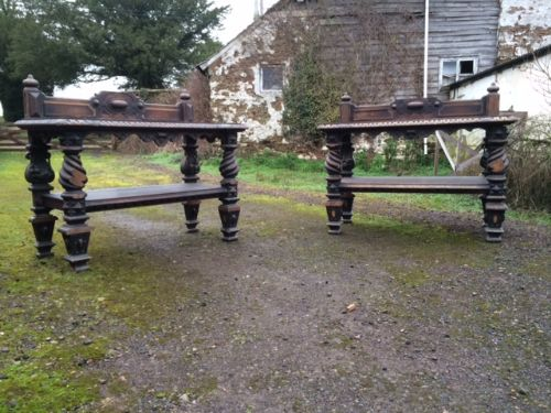 a pair of 19th century oak buffets