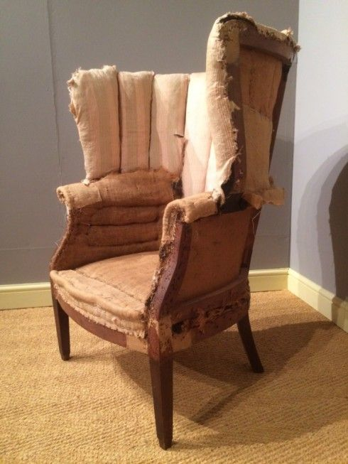 an 18th century wing armchair