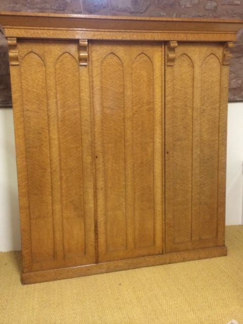 a 19thcentury bird'seye maple wardrobe