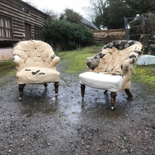 a pair of 19th century mahogany country house shapley armchairs
