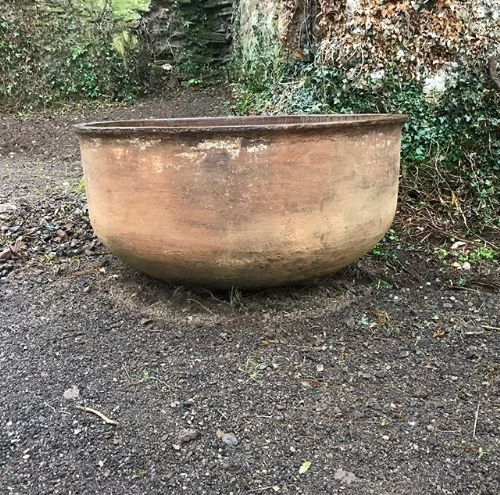19th c large steel planter