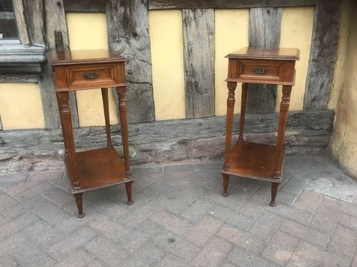 19thc pair of howard sons walnut lamp tables