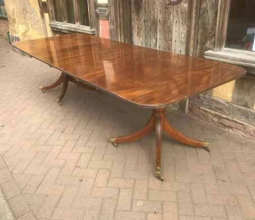edwardian twin pedestal mahogany dining table