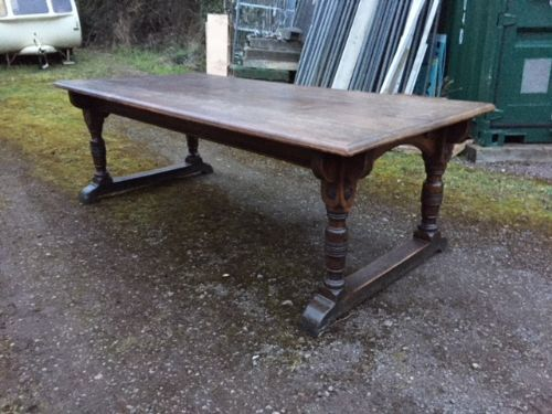 a 19th century oak refectory dining table