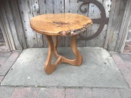 20thc burr elm small table