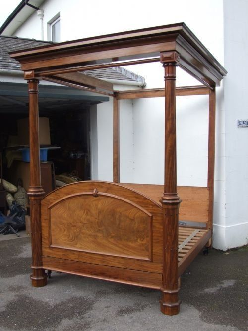 a large 19thc mahogany tester bed