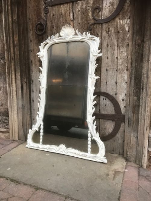 18thc overmantle painted mirror