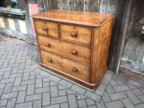 19thc birch wood chest of drawers
