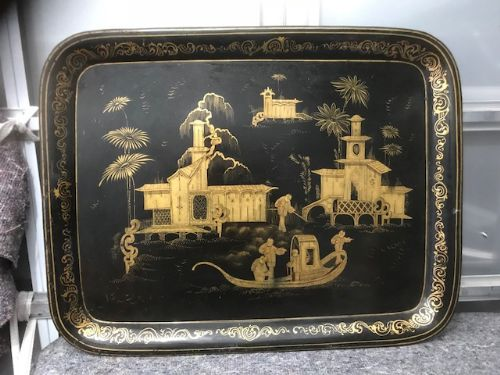 19thc toleware tray
