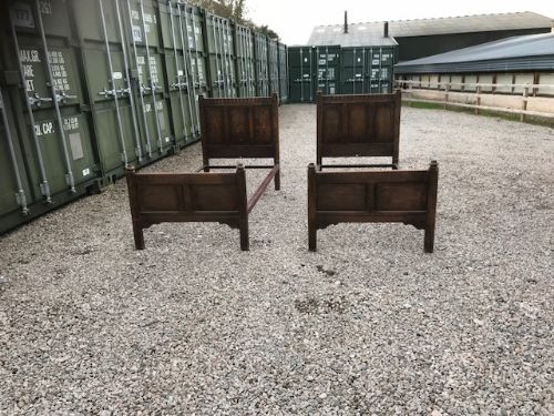 heals and sons pair of oak single beds