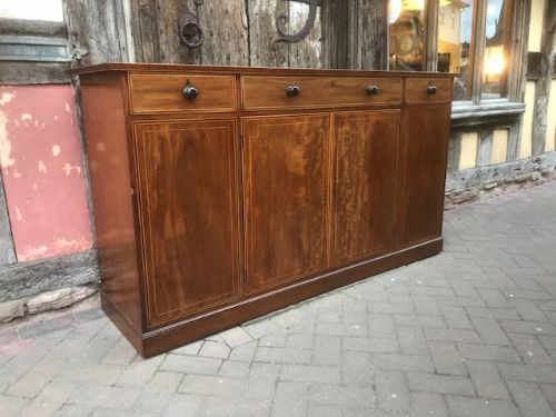 early 19thc mahogany side cabinet