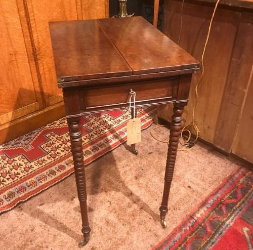 a 19thc plum pudding mahogany lamp table