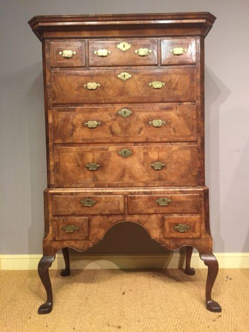a george i walnut chest on stand