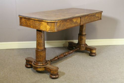 a 19th century pollard oak writing table