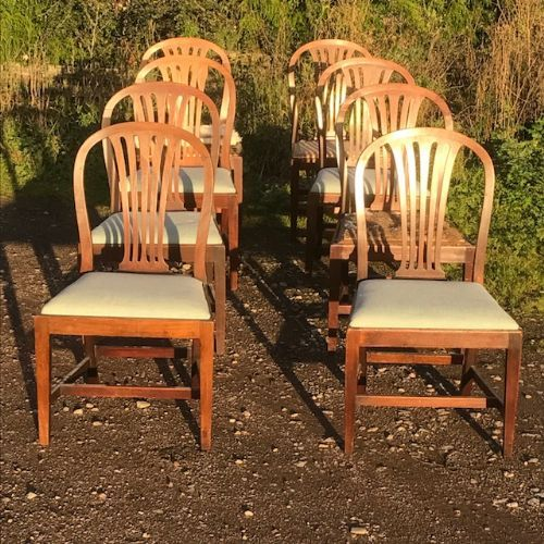 a set of 8 18thc chairs by gillows