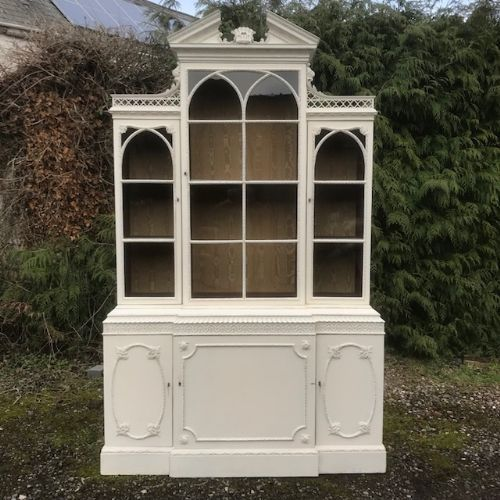 a 19thc chippendale revival bookcase