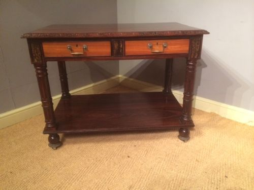 an exceptional quality and very unusual indian rosewood satinwood ebony calamander centre library table