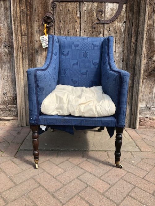 an early 19thc country house armchair
