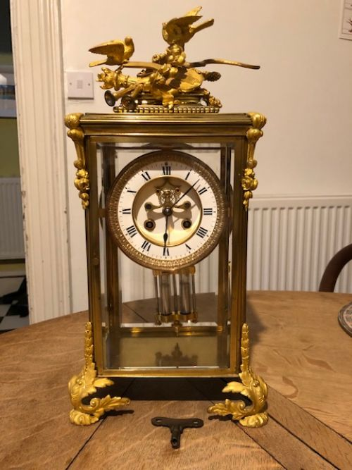 a 19thc french brass ormolu clock of exeptional quality