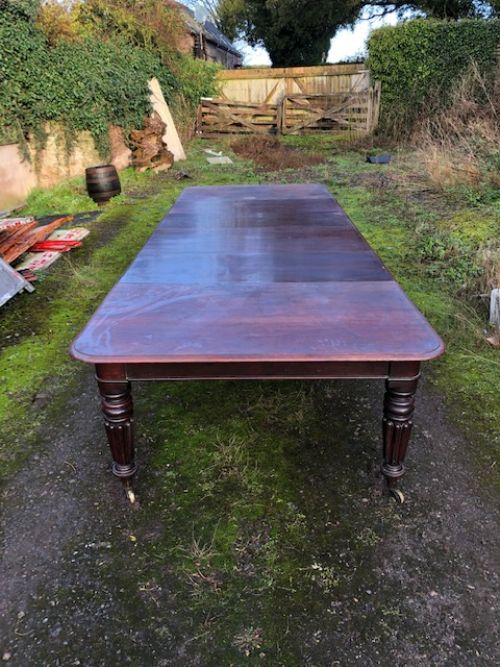 a 19thc mahogany pull out dining table