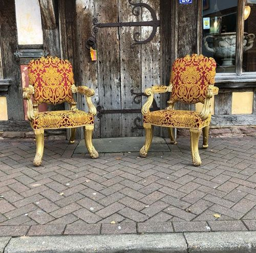 a pair of 19thc armchairs attributed to gillows