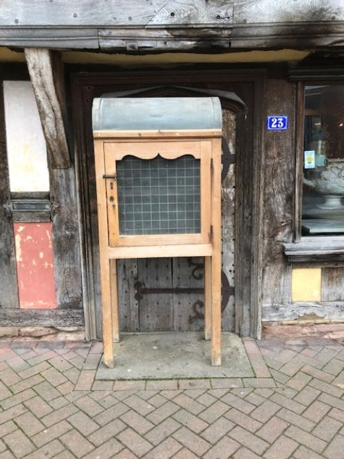 a 19thc freestanding pine food hutch cupboard