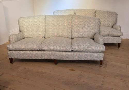 a pair of mid 20thc howard sons sofas