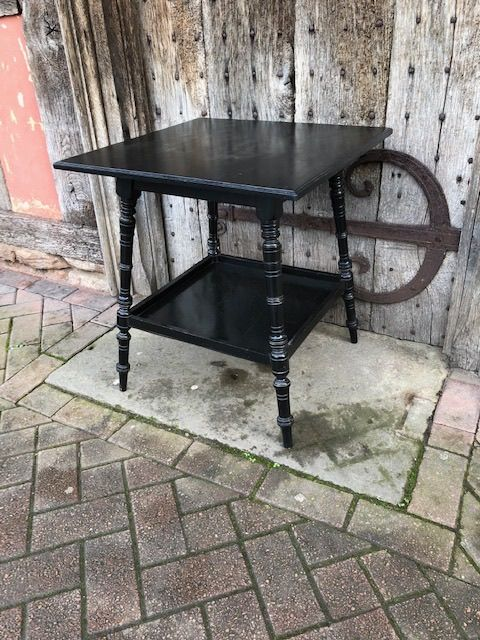 a 19thc ebonised lamp table in the style of e w godwin