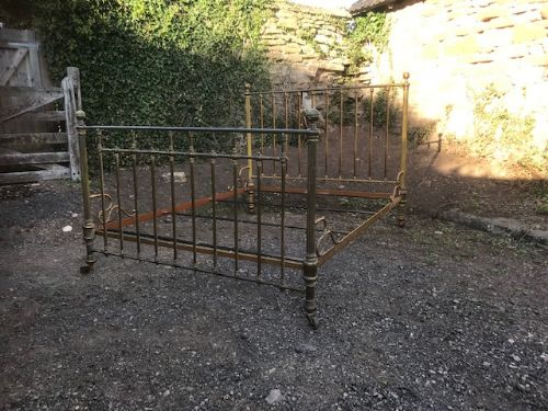 a 19thc french brass bed