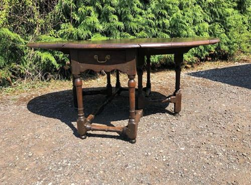 an 18thc large oak gateleg table