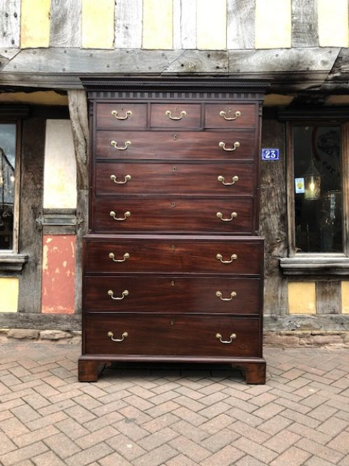 an 18thc geo iii mahogany chest on chest