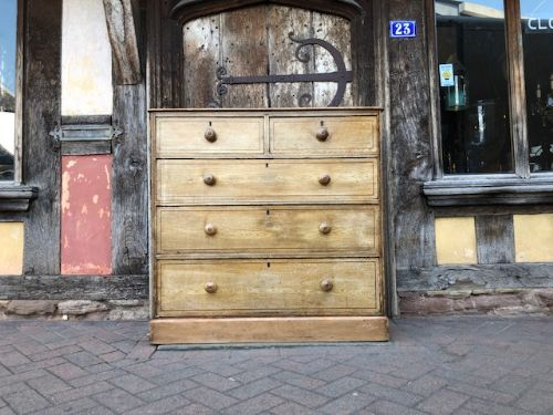 a 19thc simulated ash country house chest of drawers