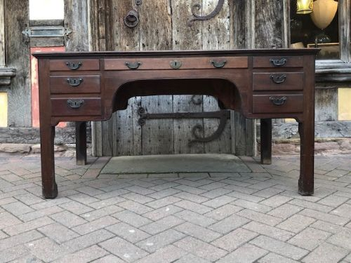 an 18thc century chippendale period geo ii mahogany partners desk