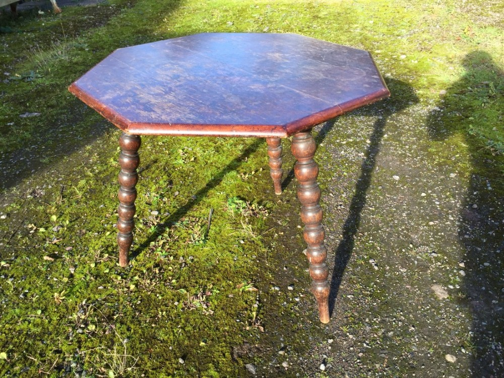 19th century oak bobbin table