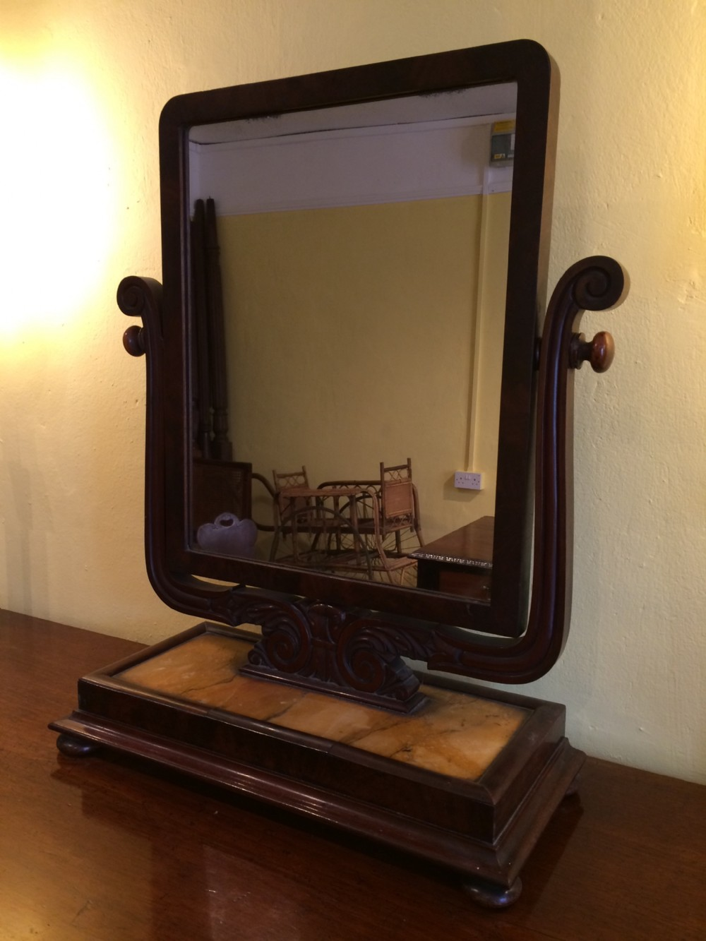 19th c mahogany dressing table mirror