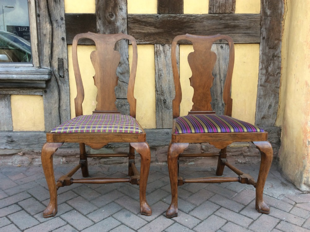 19th c pair of howard sons mahogany side chairs