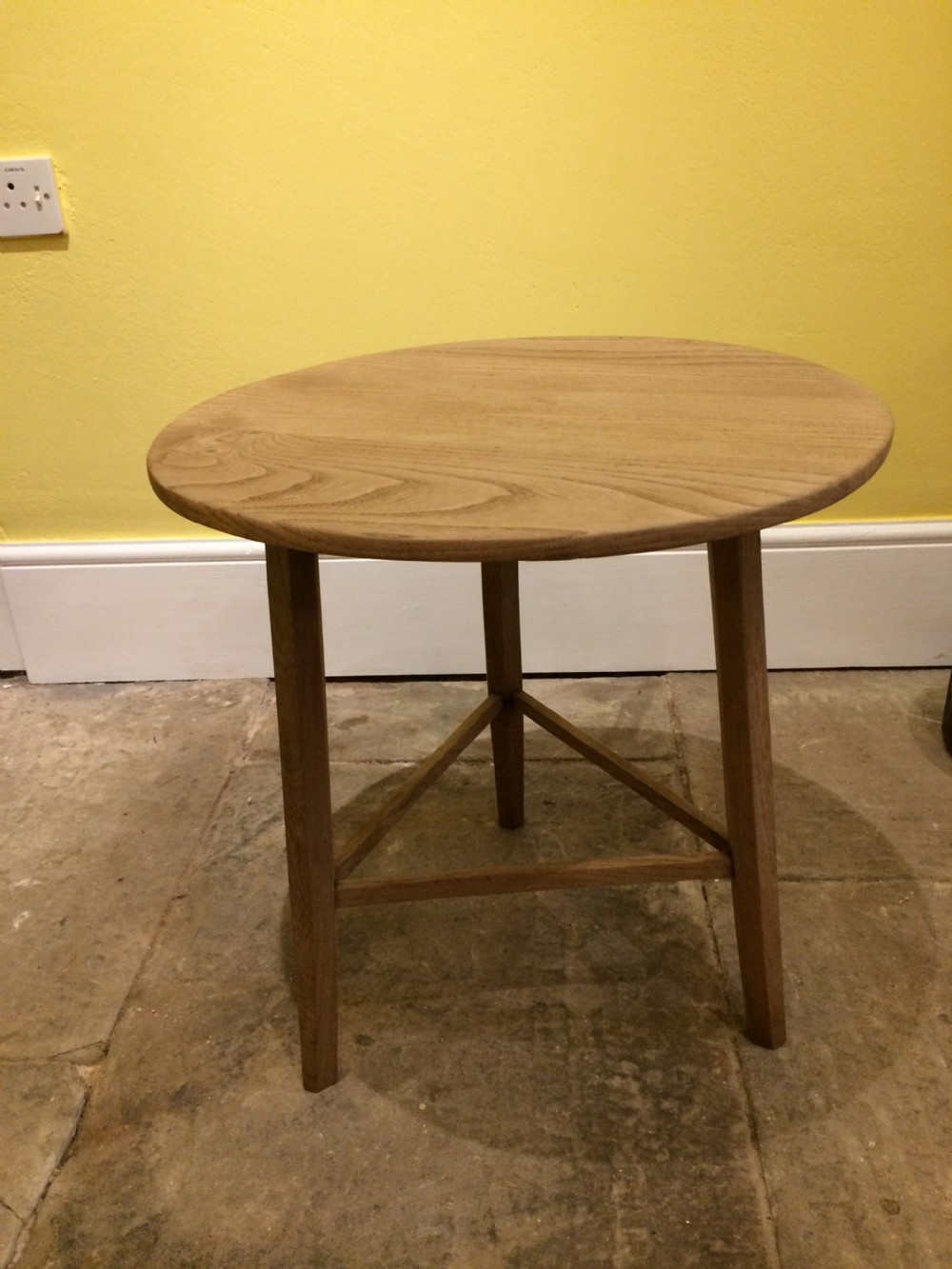 20thc small elm cricket table