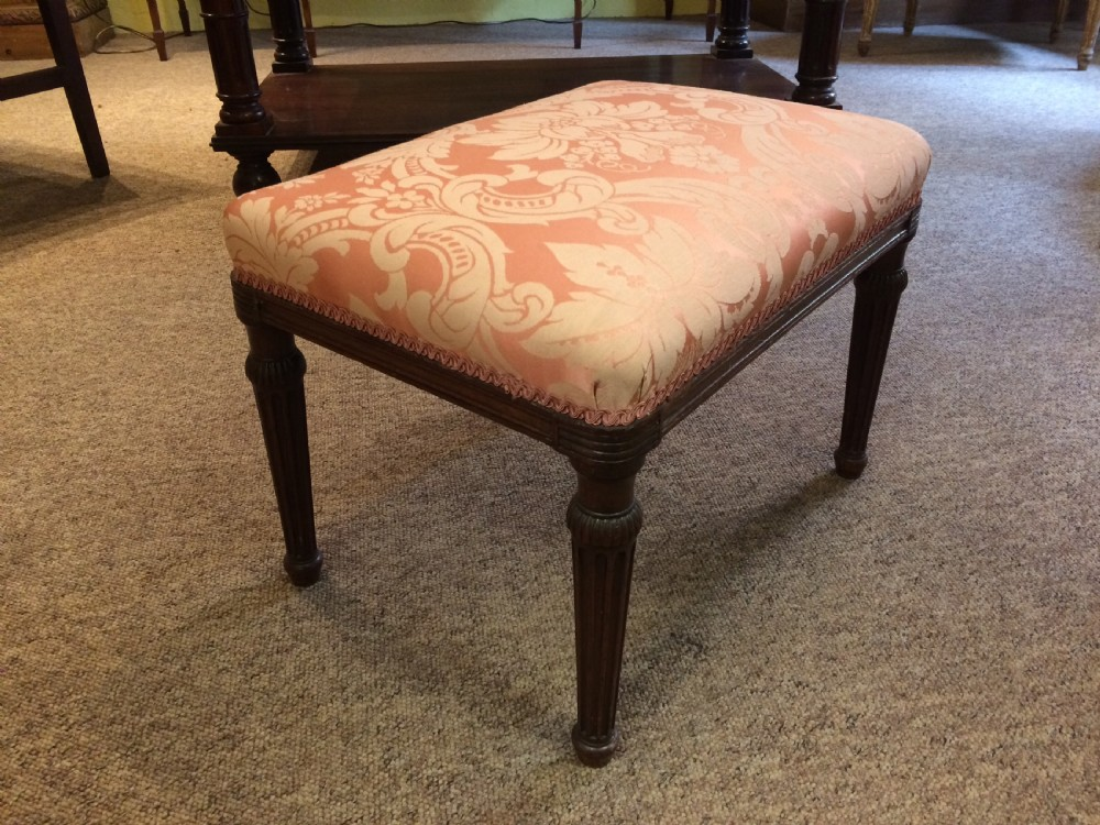 18thc mahogany stool in the manner of gillows