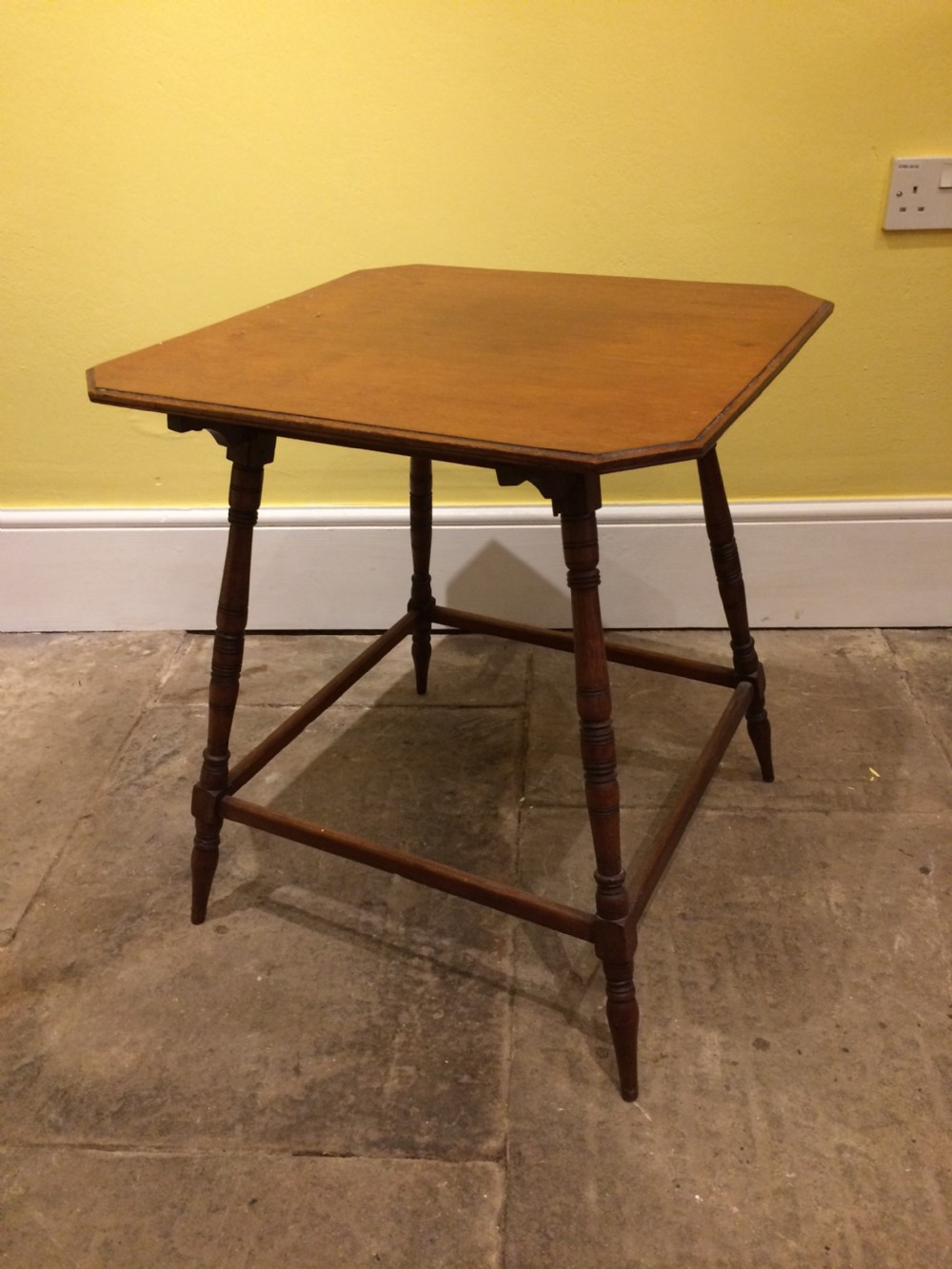 19thc english walnut occasional table