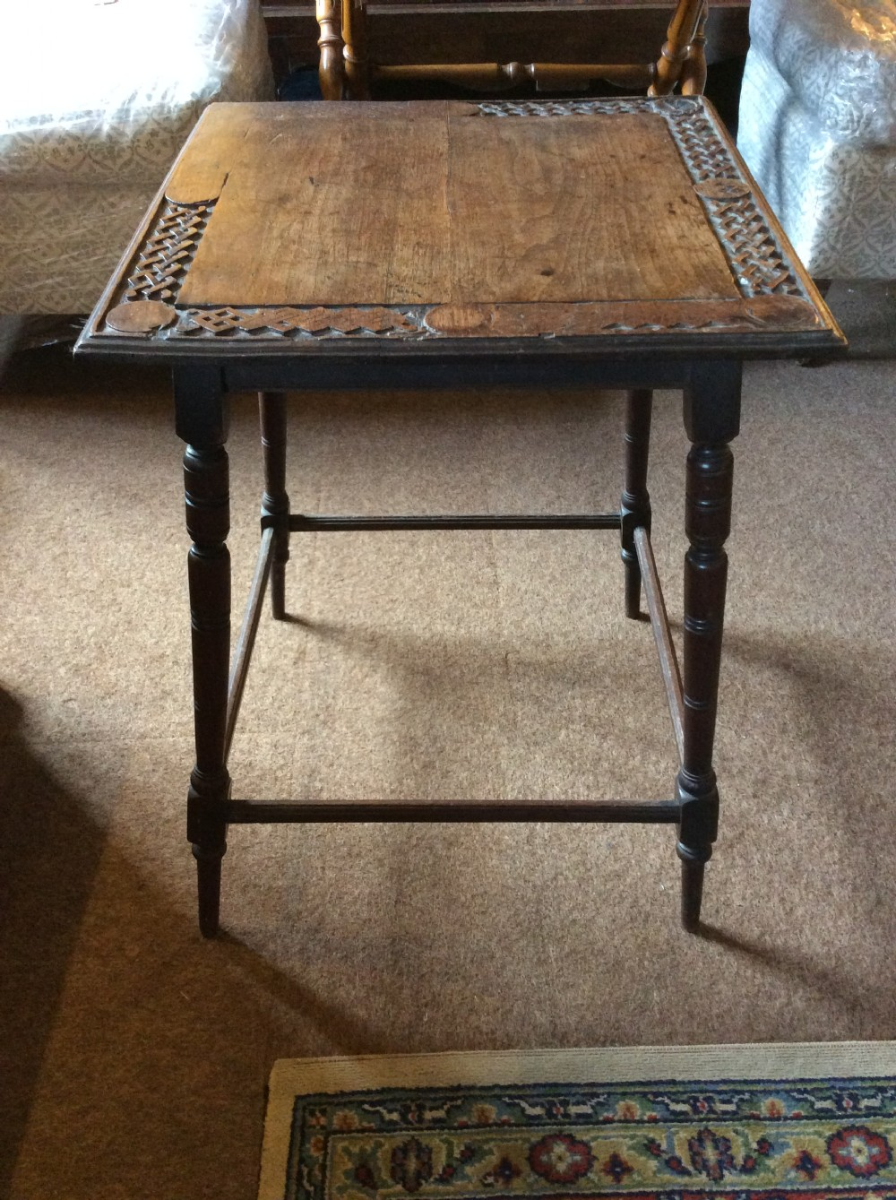 late 19thc walnut wine table