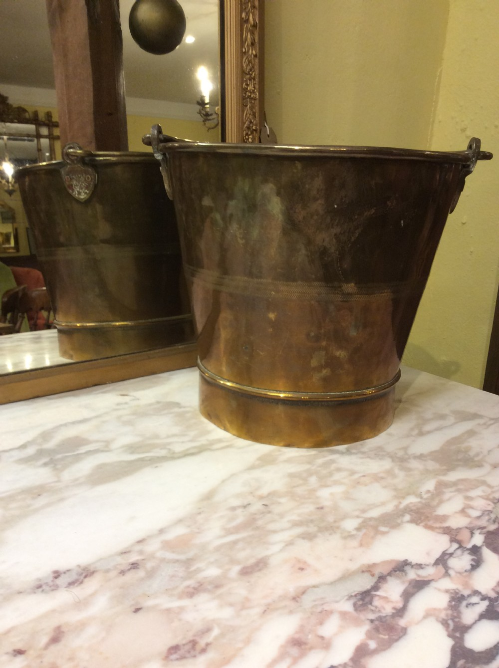 19thc bombay brass ice bucket