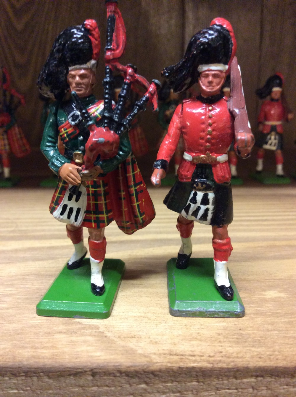 19 william britain painted diecast figures priced for each