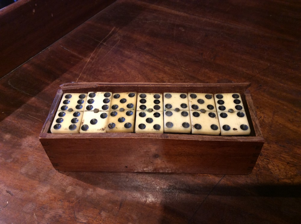 19thc set of dominoes