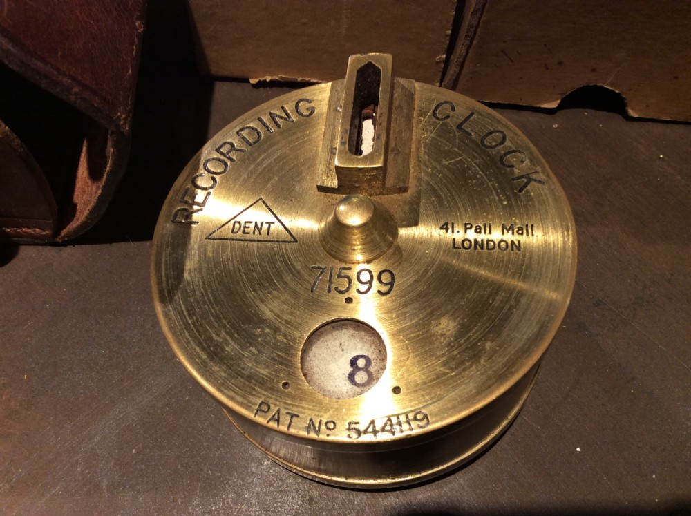 19thc dent of london nightmans recording clocking device