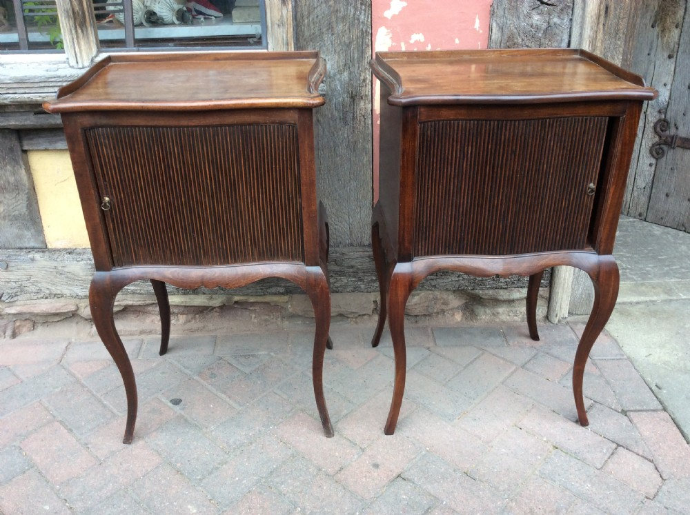 pair of mahogany bedside cabinets one 18thone later