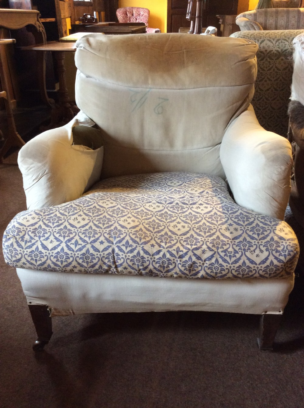 early 20thc howard sons bridgewater armchair