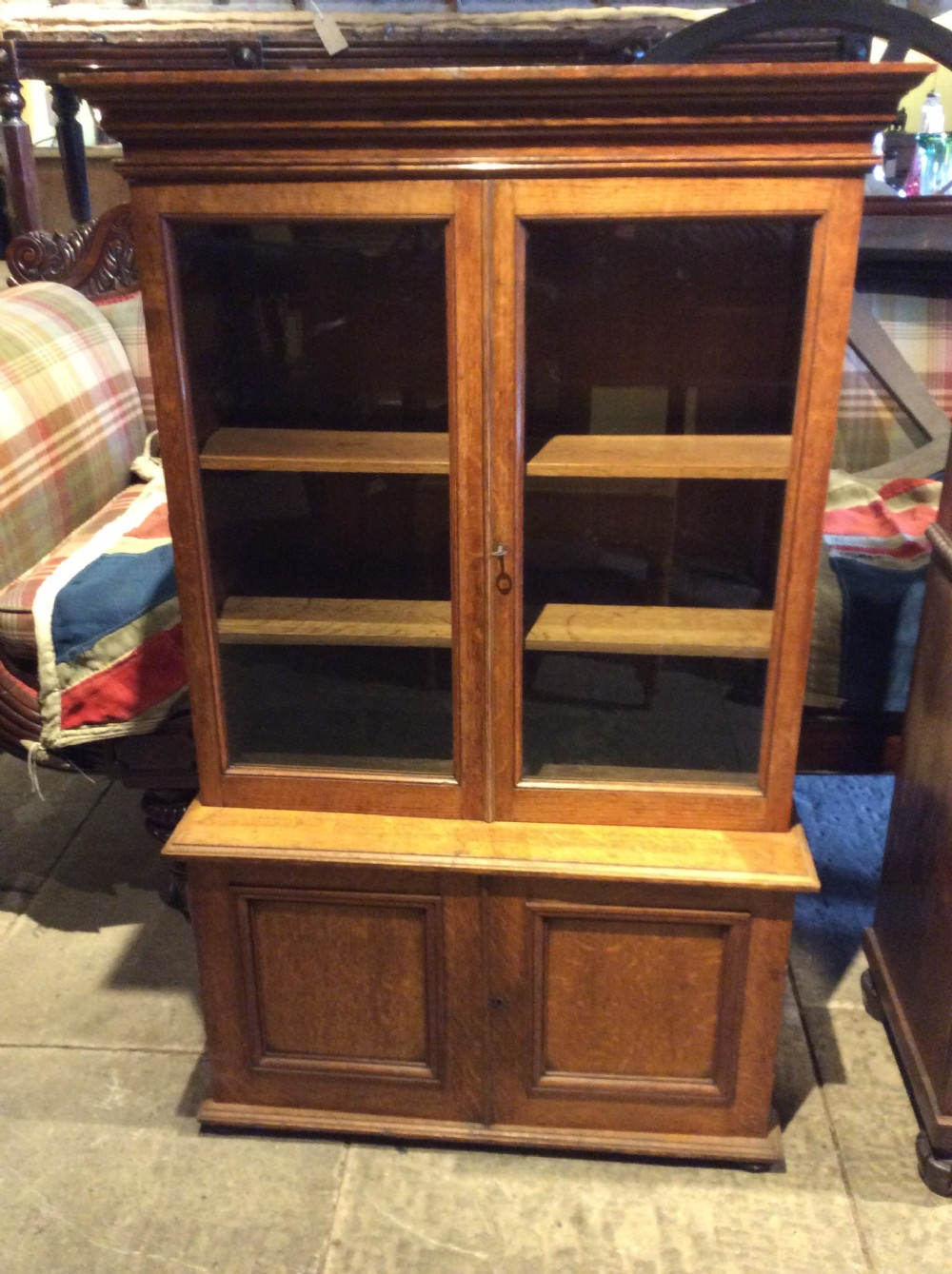 19thc oak table top bookcase